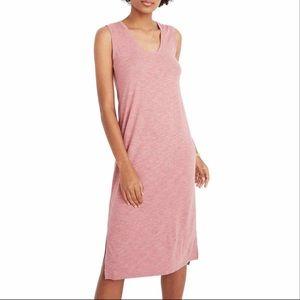 Madewell Jersey Pink Sleeveless Jersey Tank Dress